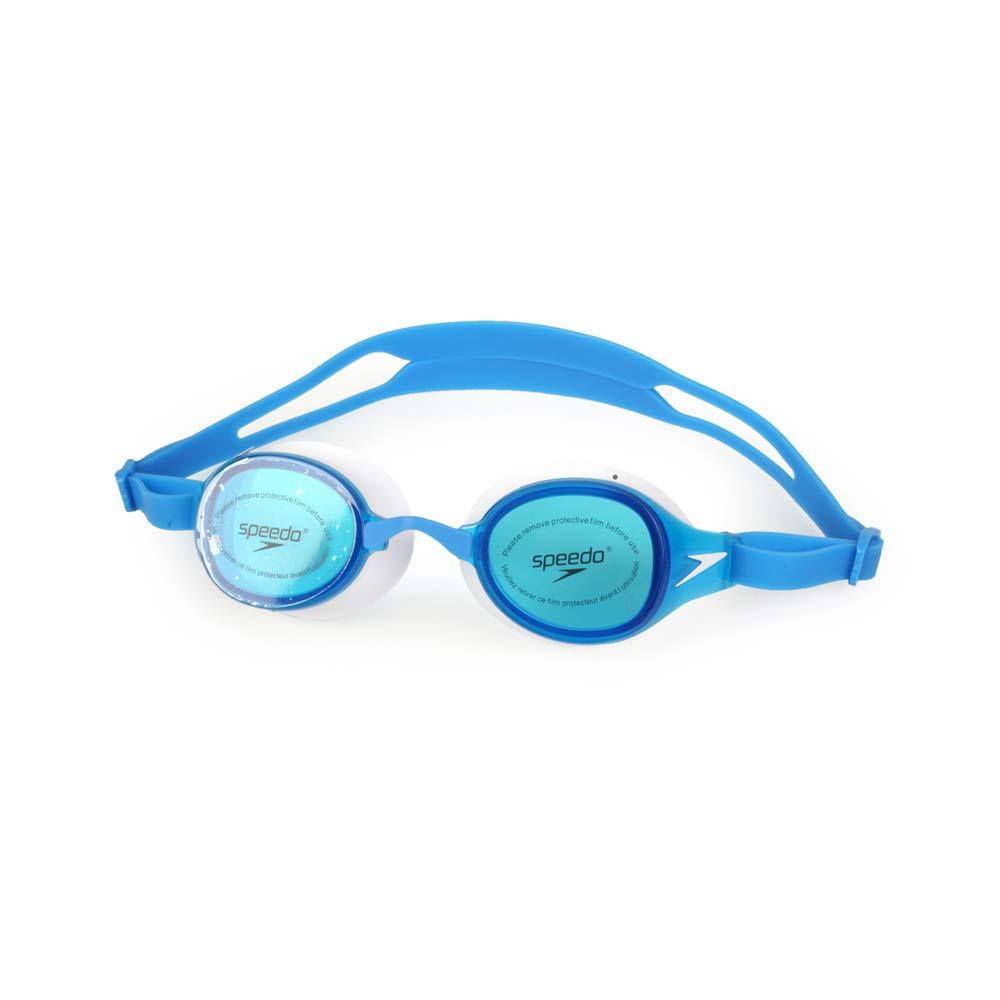 SPEEDO 成人運動泳鏡-訓練 游泳 海邊 蛙鏡 藍白@SD812669D665@