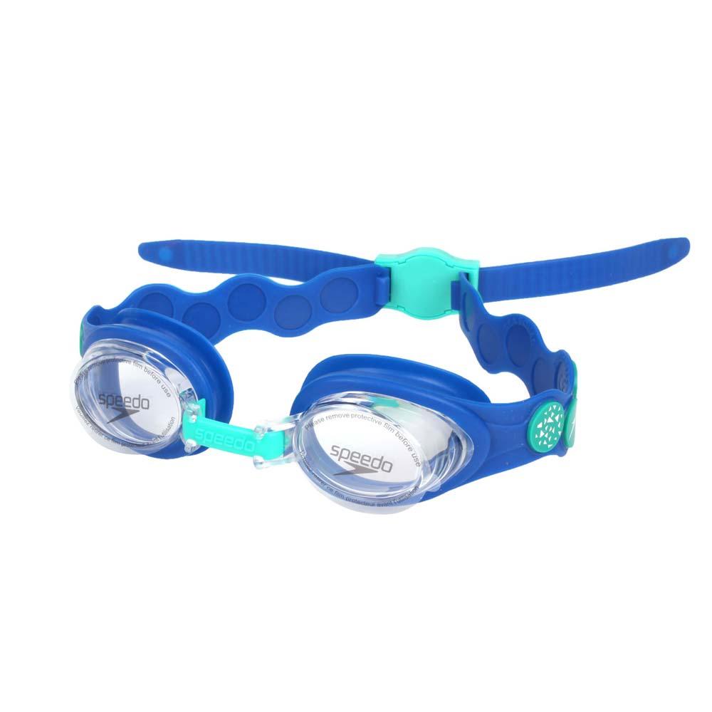 SPEEDO 幼童運動泳鏡-小鱷魚-游泳 戲水 海邊 蛙鏡 藍綠@SD808382D660@