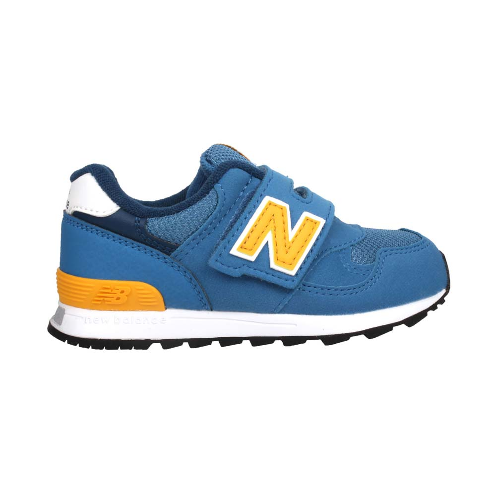 NEWBALANCE 男女小童復古慢跑鞋-313系列  NB N字鞋 童鞋 珊瑚藍黃@IO313BY@