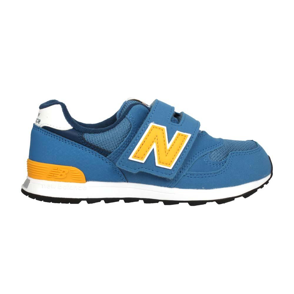 NEWBALANCE 男女中童復古慢跑鞋-313系列  N字鞋 童鞋 寬楦 珊瑚藍黃@PO313BY@