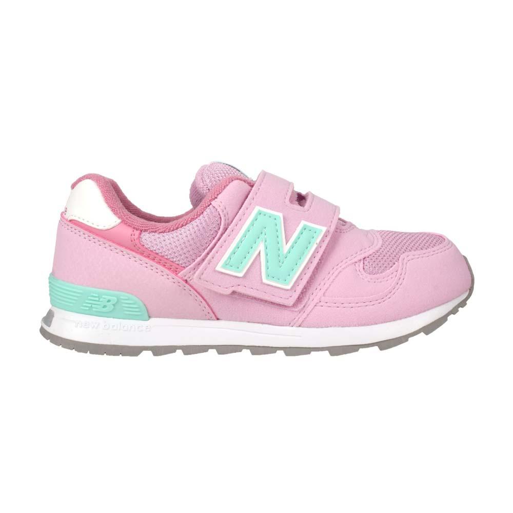 NEWBALANCE 男女中童復古慢跑鞋-313系列  N字鞋 童鞋 寬楦 粉紅淺綠@PO313PP@