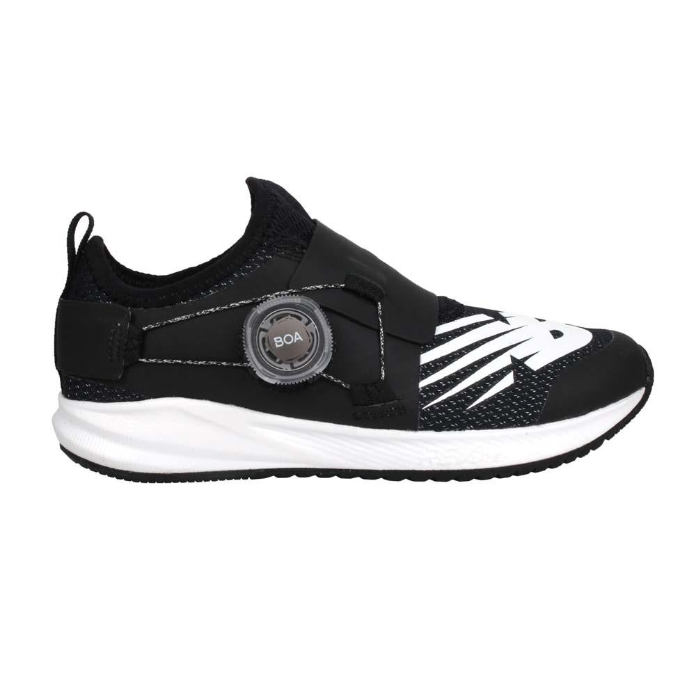 NEWBALANCE 男女中童旋鈕慢跑鞋-WIDE-寬楦 NB 輕量 黑白@PKRVLCT2@