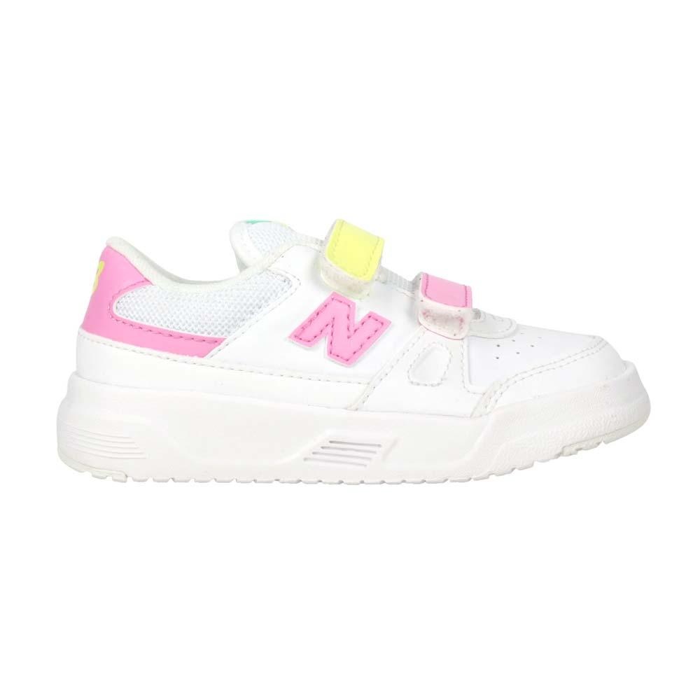 NEWBALANCE 女小童運動休閒鞋-WIDE-寬楦 CT20系列 復古 白粉紅黃@IVCT20WC@