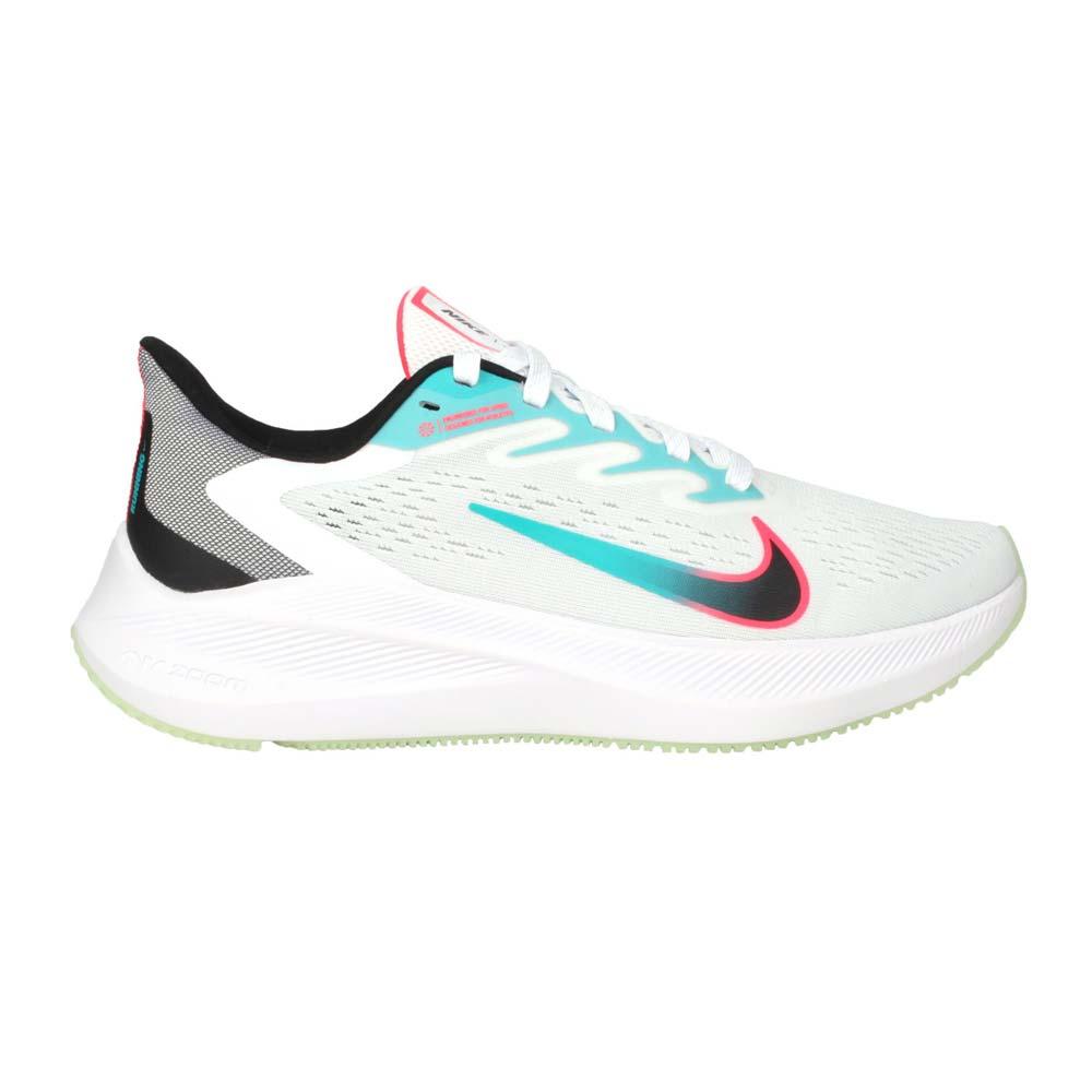 NIKE WMNS ZOOM WINFLO 7 女慢跑鞋-路跑 運動鞋 輕量 氣墊 白湖綠粉黑@CJ0302102@