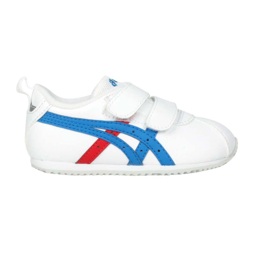 ASICS CORSAIR BABY SL 2 男小童運動休閒鞋-魔鬼氈 亞瑟士 白藍紅@1144A151-101@