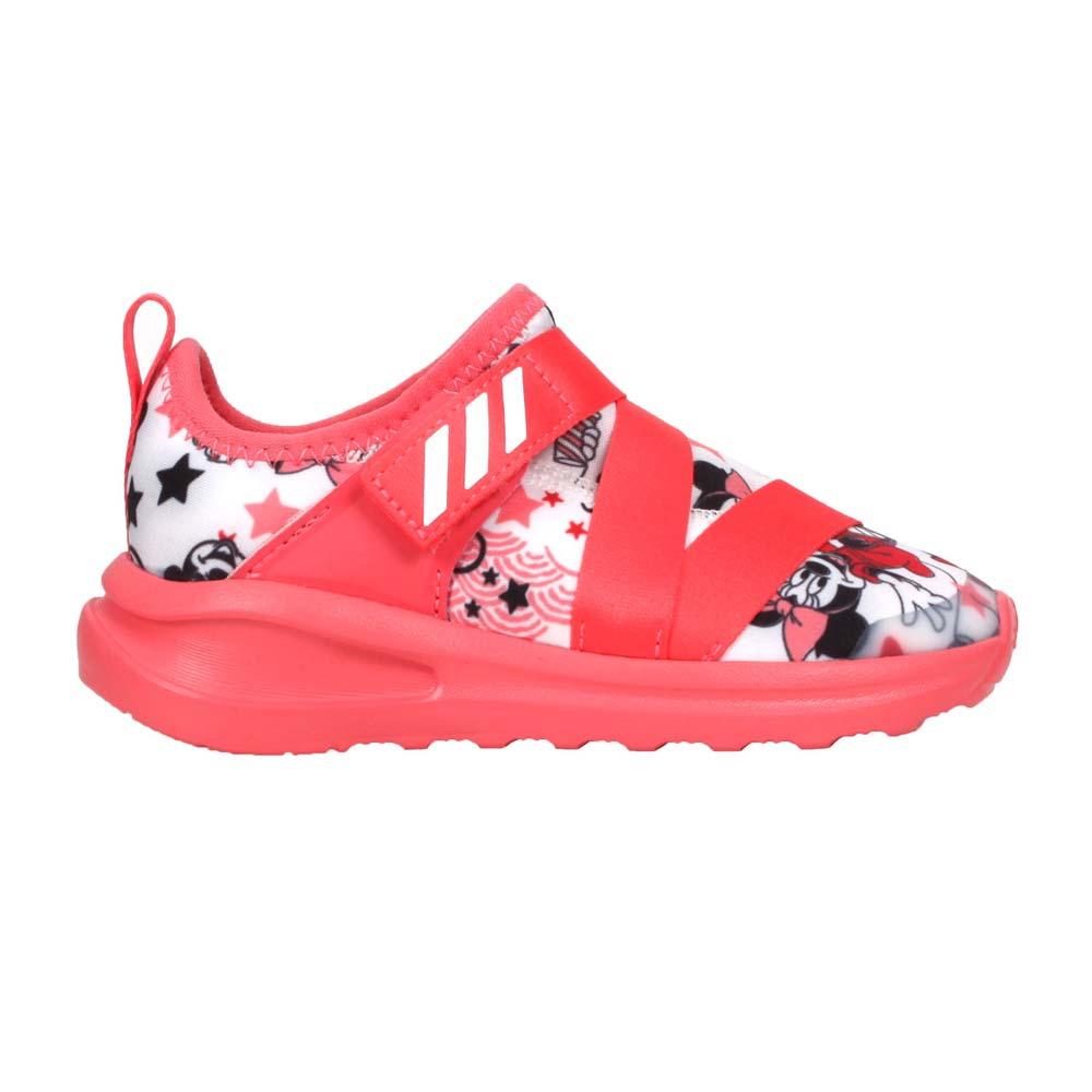 ADIDAS FORTARUN X MINNIE I女小童休閒運動鞋-迪士尼 愛迪達 珊瑚紅白黑@FV4260@