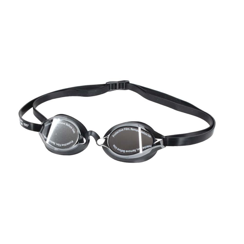 SPEEDO 成人競技鏡面泳鏡-日製 游泳 海邊 蛙鏡 抗UV 防霧 訓練 黑銀@SD8108973515N@
