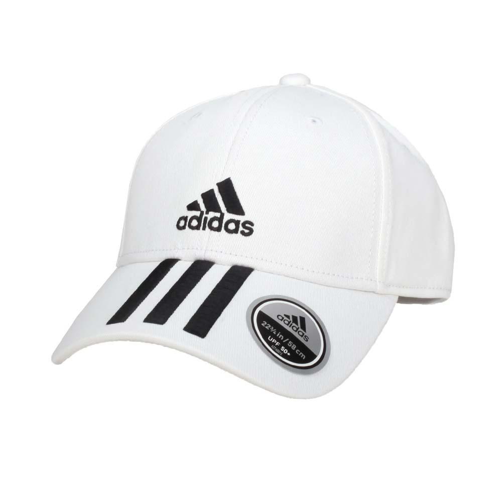 ADIDAS 運動帽-帽子 防曬 遮陽 愛迪達 純棉 白黑@FQ5411@