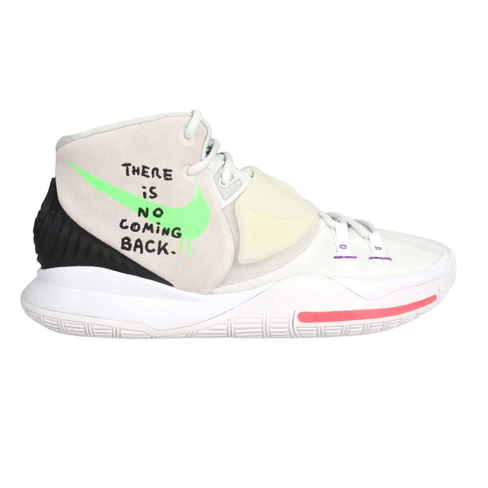 NIKE NIKE KYRIE 6 EP 男籃球鞋(免運 避震 厄文 魔鬼氈 中筒 氣墊 灰黑綠@BQ4631005@