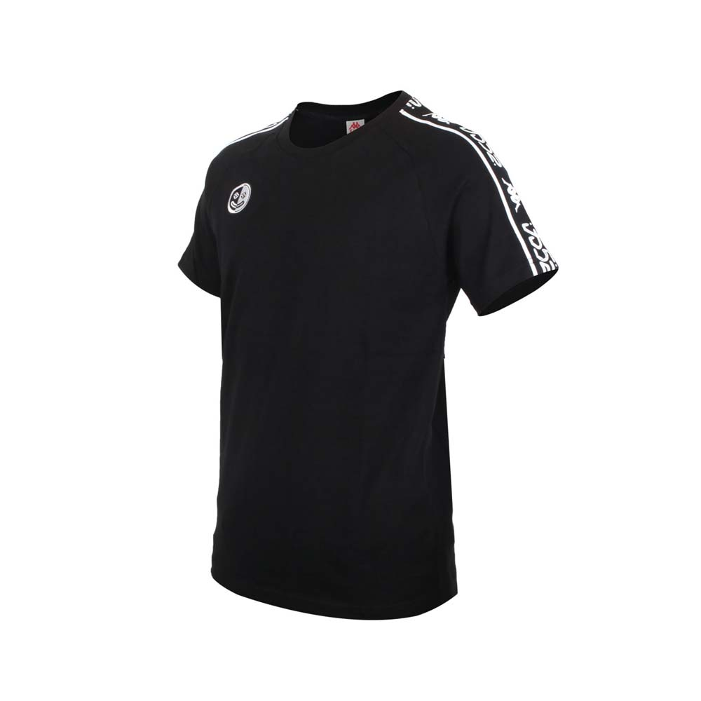KAPPA DD52聯名男女短袖T恤-限量-菱格世代 純棉 台灣製 休閒上衣 黑黑白@33145CW-005@