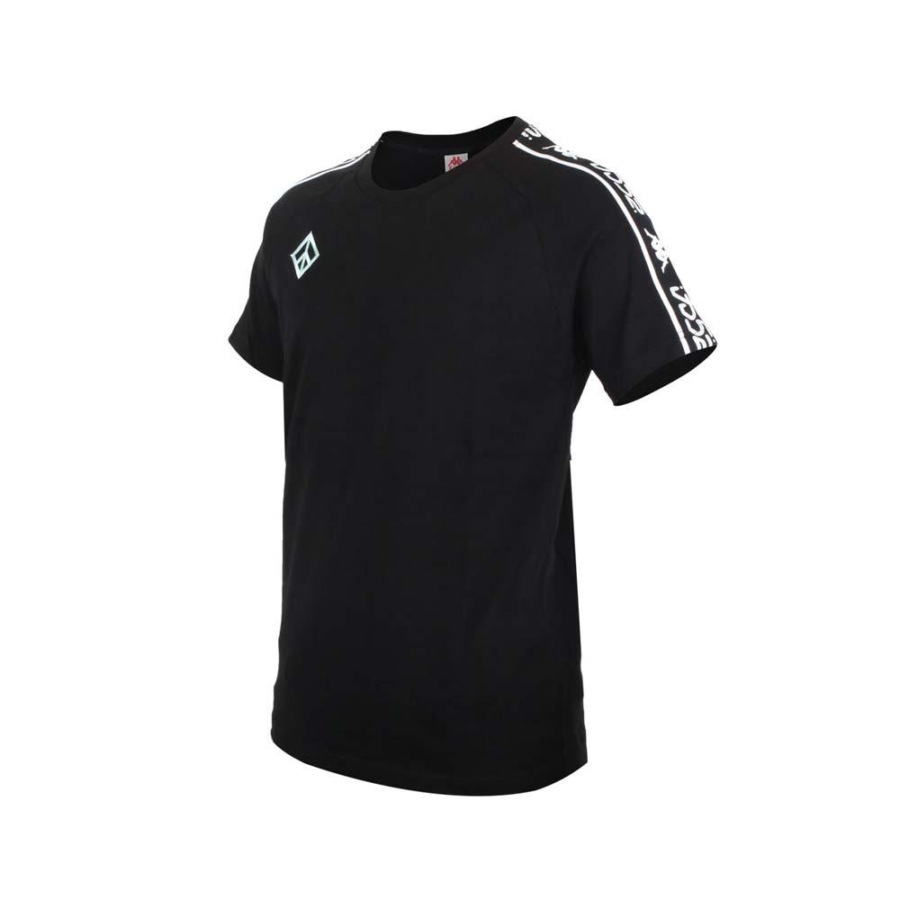 KAPPA DD52聯名男女短袖T恤-限量-菱格世代 純棉 台灣製 休閒上衣 黑粉綠白@33145CW-XND@