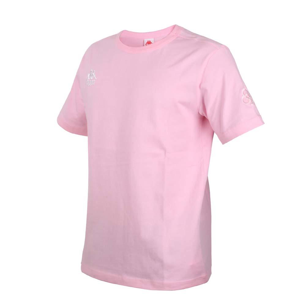KAPPA DD52聯名男女短袖T恤-限量-菱格世代 純棉 台灣製 休閒上衣 粉紅白@33145BW-765@