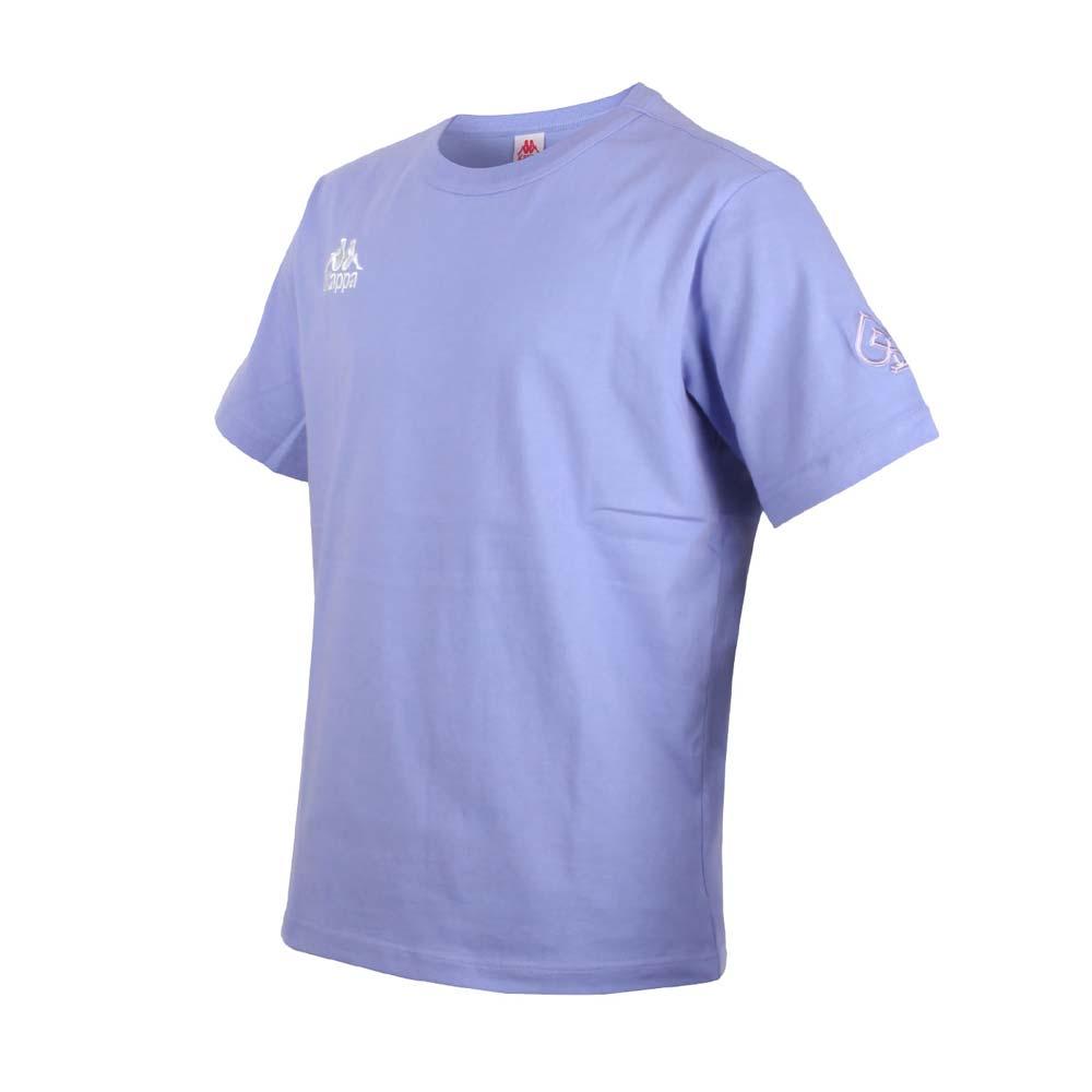 KAPPA DD52聯名男女短袖T恤-限量-菱格世代 純棉 台灣製 休閒上衣 粉紫白@33145BW-WHY@