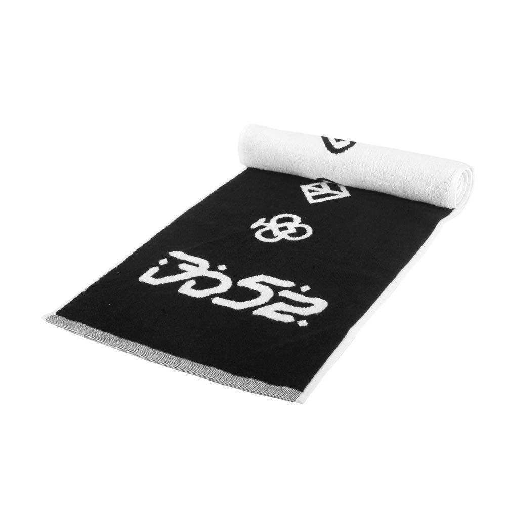 KAPPA DD52聯名毛巾-海邊 游泳 戲水 慢跑 路跑 菱格世代 純棉 台灣製 黑白@37137ZW-005@