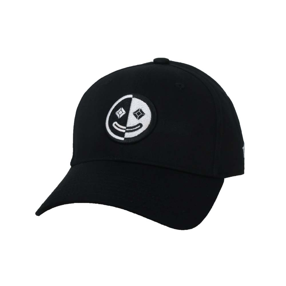 KAPPA DD52聯名球帽-遮陽 防曬 鴨舌帽 帽子 菱格世代 純棉 黑白@35151EW-005@