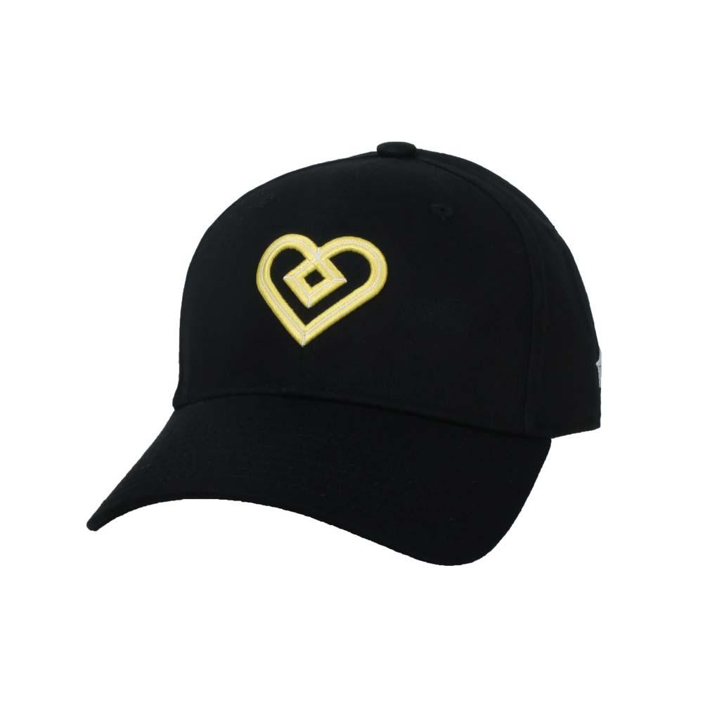 KAPPA DD52聯名球帽-遮陽 防曬 鴨舌帽 帽子 菱格世代 純棉 黑黃@35151EW-D17@