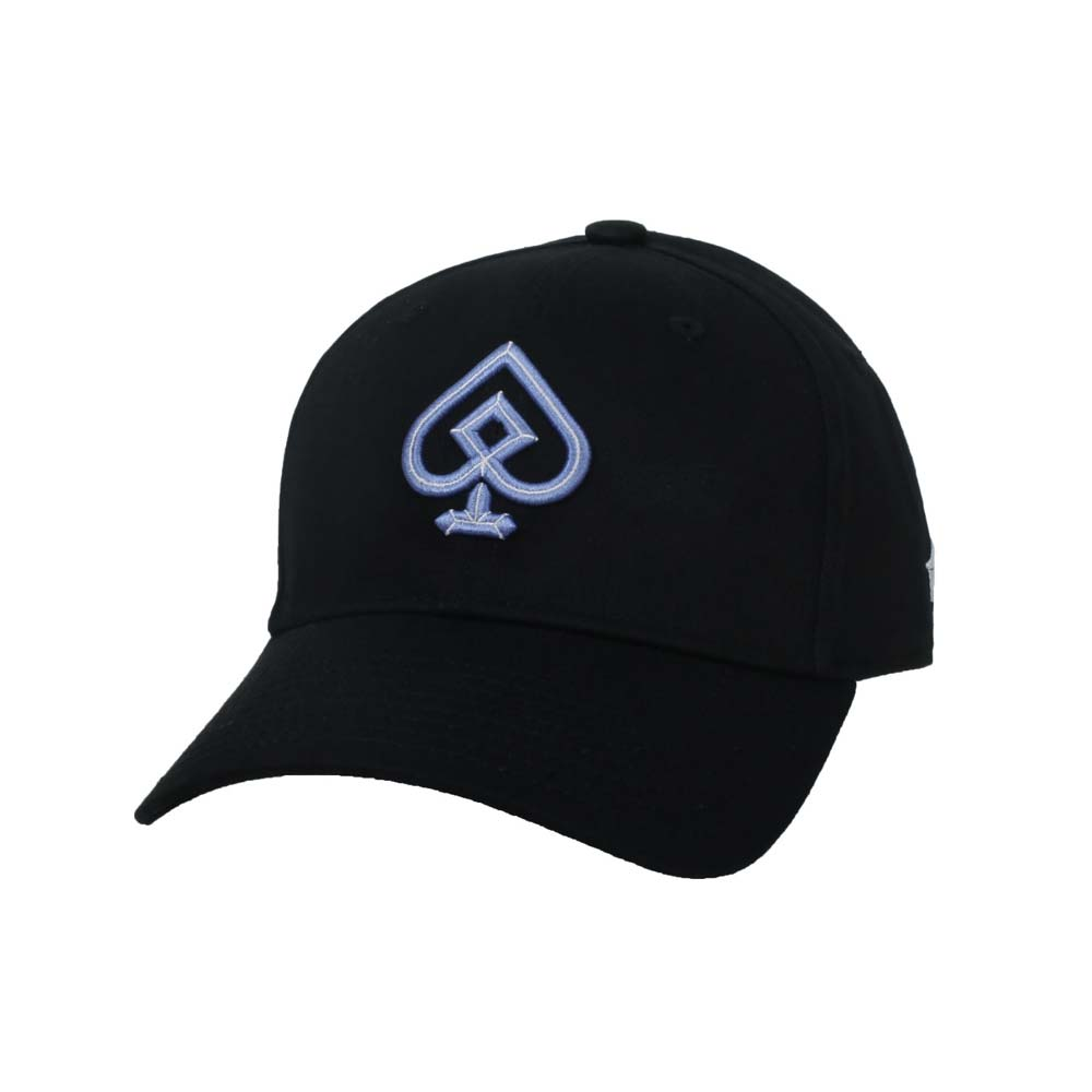 KAPPA DD52聯名球帽-遮陽 防曬 鴨舌帽 帽子 菱格世代 純棉 黑粉紫@35151EW-WHY@