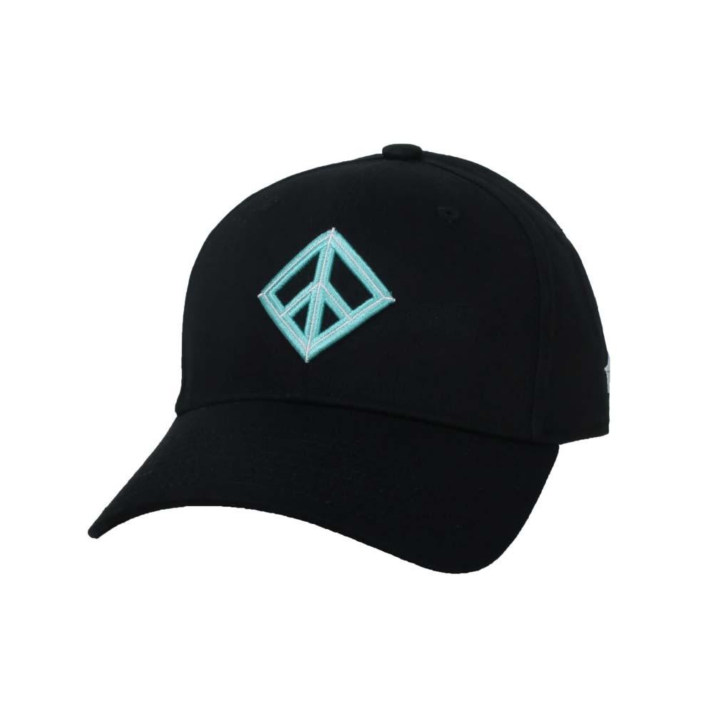 KAPPA DD52聯名球帽-遮陽 防曬 鴨舌帽 帽子 菱格世代 純棉 黑粉綠@35151EW-XND@
