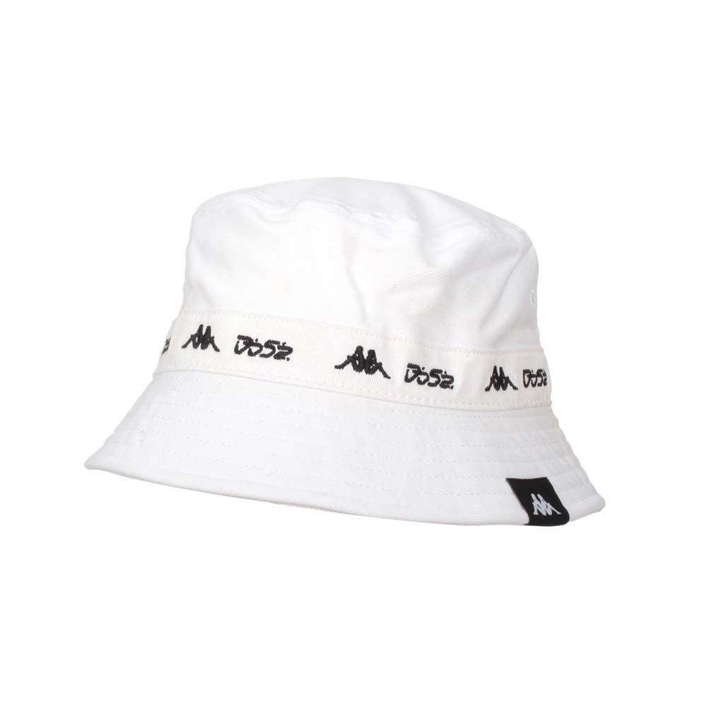 KAPPA DD52聯名漁夫帽-遮陽 防曬 帽子 菱格世代 純棉 白黑@351462W-001@