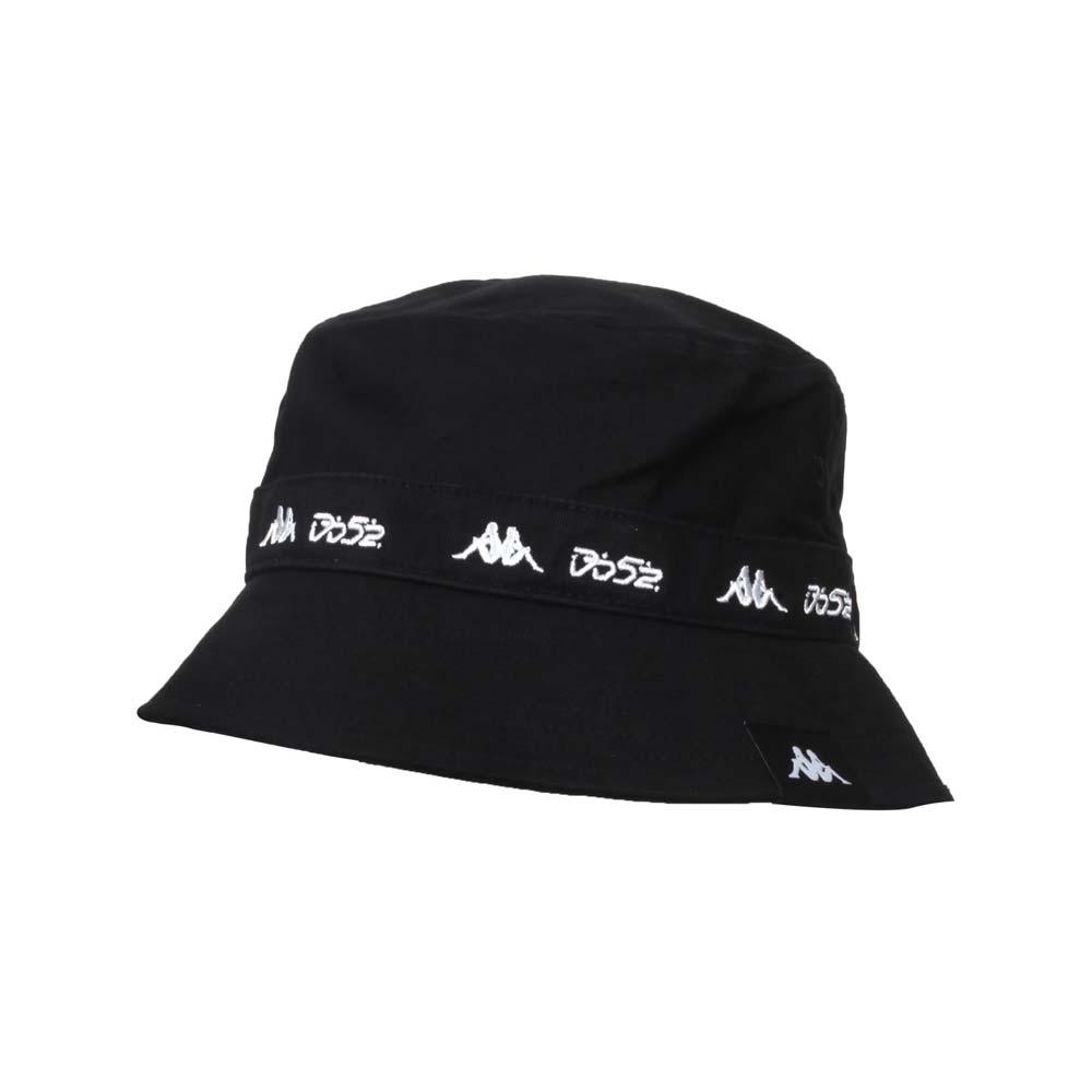 KAPPA DD52聯名漁夫帽-遮陽 防曬 帽子 菱格世代 純棉 黑白@351462W-005@