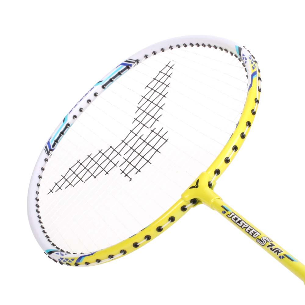 VICTOR 兒童短桿極速穿線拍-羽毛球拍 羽球 勝利 黃白藍@JS-7JR@