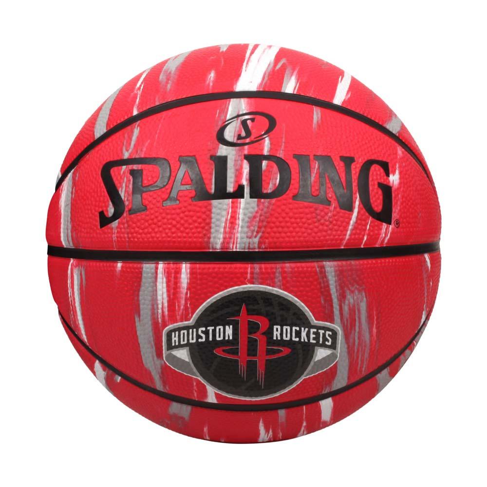 SPALDING NBA隊徽-火箭 #7籃球-室外 7號球 運動 斯伯丁 紅黑白灰@SPA84150@