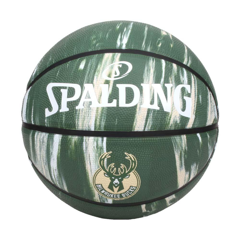 SPALDING NBA隊徽-公鹿 #7籃球-室外 7號球 運動 斯伯丁 大理石紋 深綠米白@SPA84148@