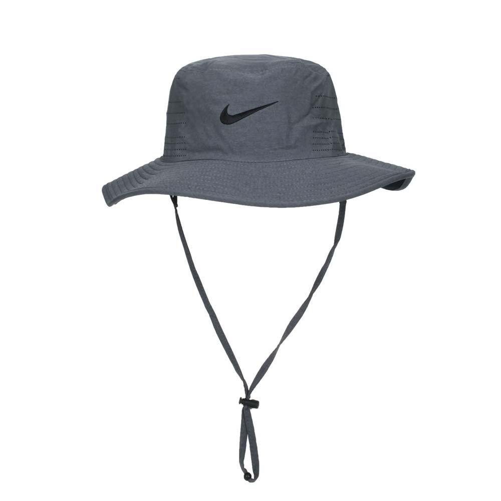 NIKE GOLF 漁夫帽-雙面 水桶帽 台灣製 DRI-FIT UV 遮陽 防曬 深灰@AJ5468-010@