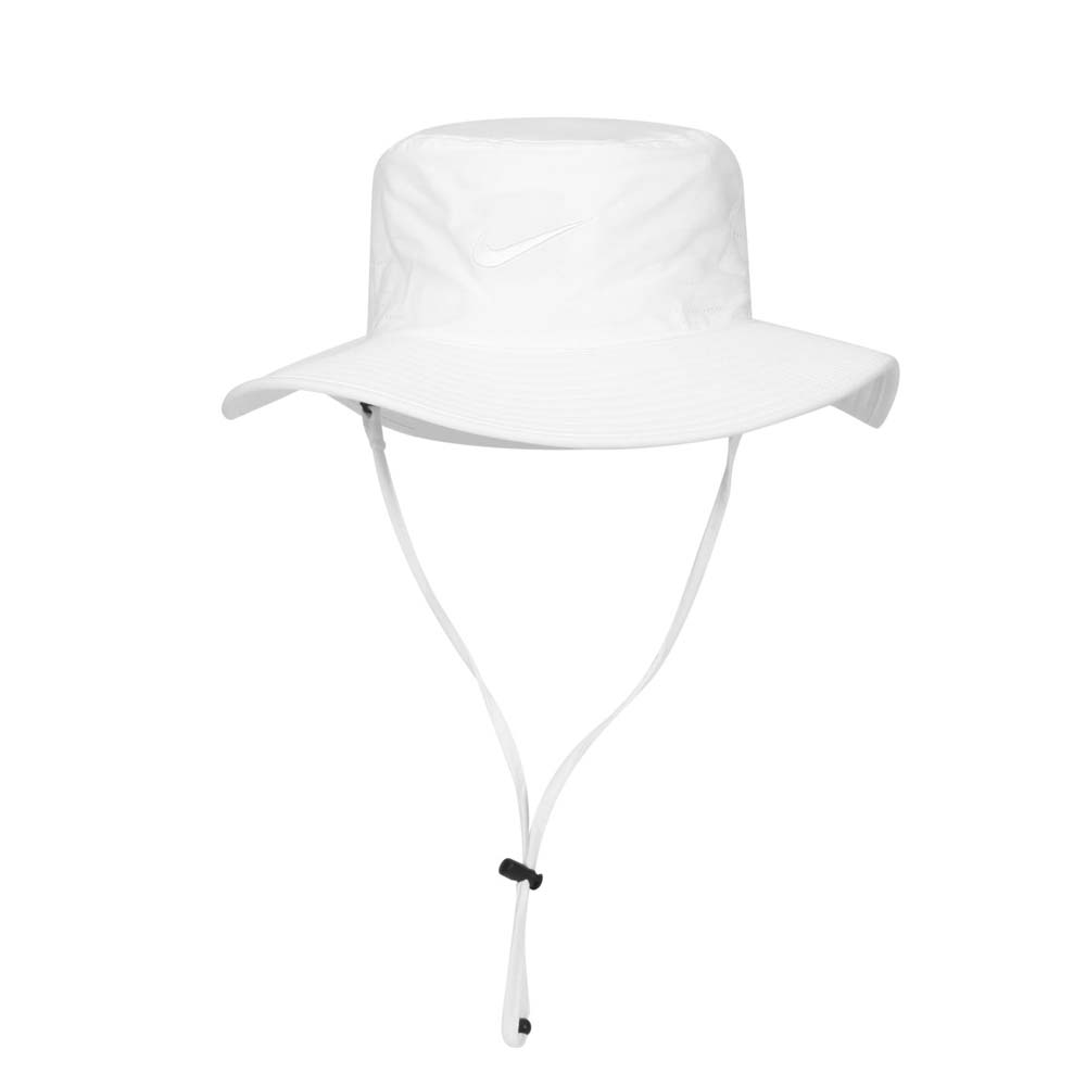 NIKE GOLF 漁夫帽-雙面 水桶帽 台灣製 DRI-FIT UV 遮陽 防曬 白@AJ5468-100@
