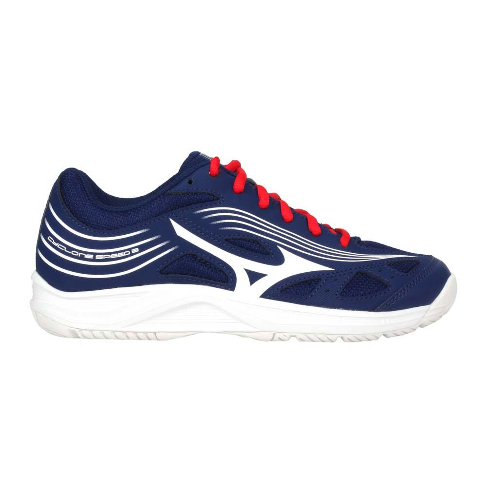MIZUNO CYCLONE SPEED 3 男女排球鞋-運動 訓練 美津濃 丈青白紅@V1GA218064@