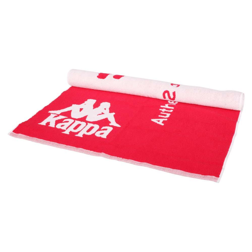 KAPPA 運動毛巾-海邊 游泳 戲水 慢跑 路跑 浴巾 純棉 台灣製 紅白@32157QW-D18@