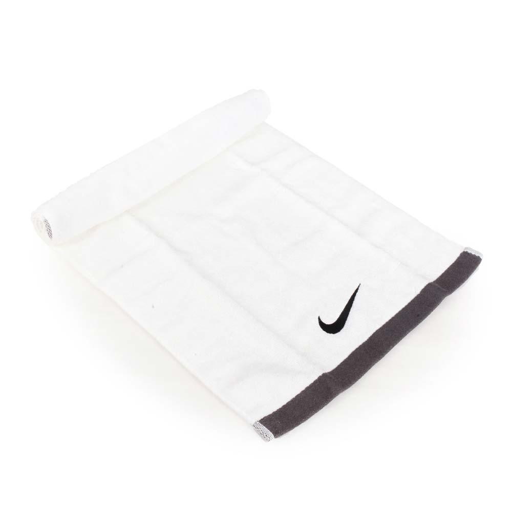 NIKE 運動毛巾-游泳 戲水 海邊 慢跑 路跑 浴巾 白黑@NET17101MD@