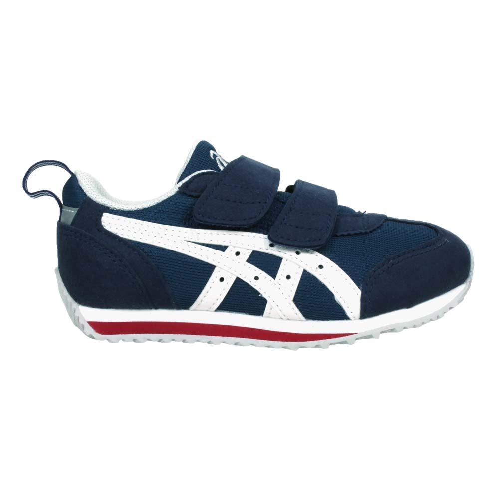 ASICS IDAHO MINI JP 男女中童運動鞋-魔鬼氈 亞瑟士 深藍白紅@TUM185-5001@