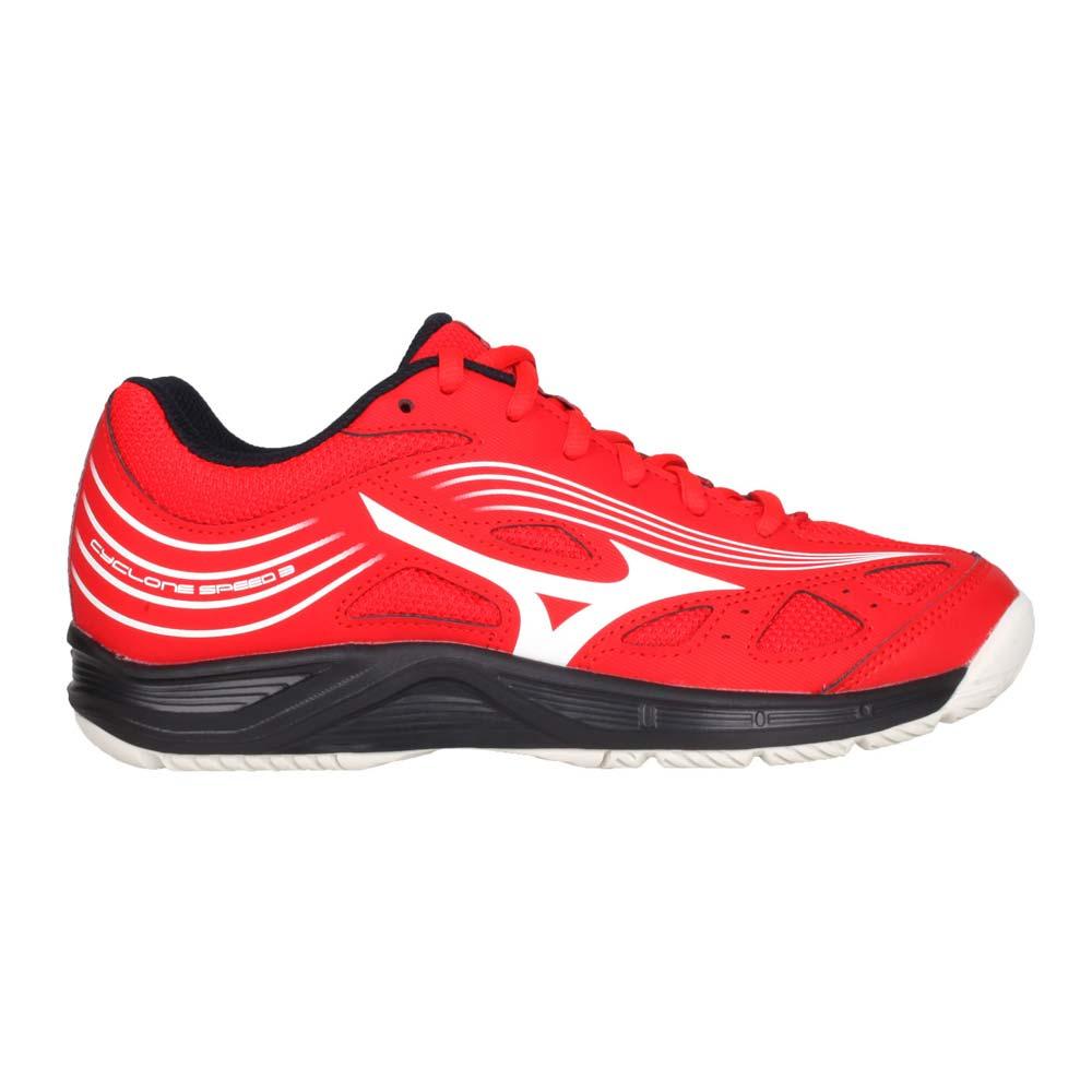 MIZUNO CYCLONE SPEED 3 男女排球鞋-運動 訓練 美津濃 紅白黑@V1GA218063@