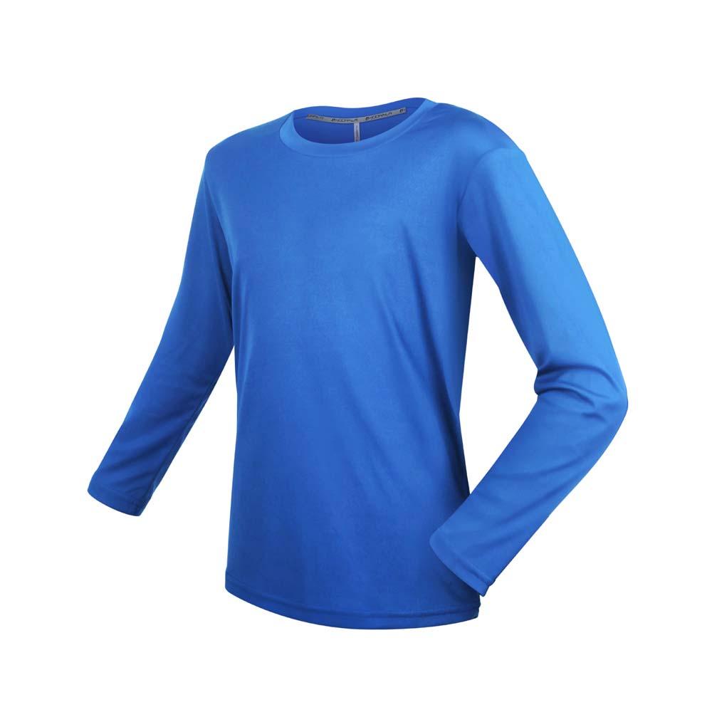 HODARLA 男女童裝長袖激膚無感衣-吸濕排汗 抗UV 長袖T恤 慢跑 台灣製 上衣 寶藍@3157504@