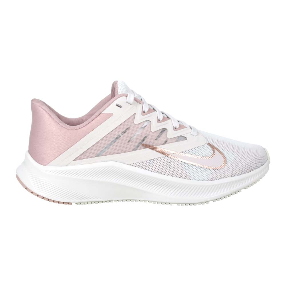 NIKE WMNS QUEST 3 女慢跑鞋-路跑 訓練 輕量 灰白玫瑰金@CD0232003@