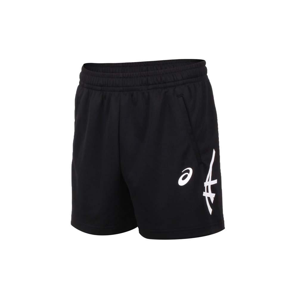 ASICS 男短版球褲-亞瑟士 慢跑 運動 台灣製 針織 三分褲 黑白@2053A138-001@