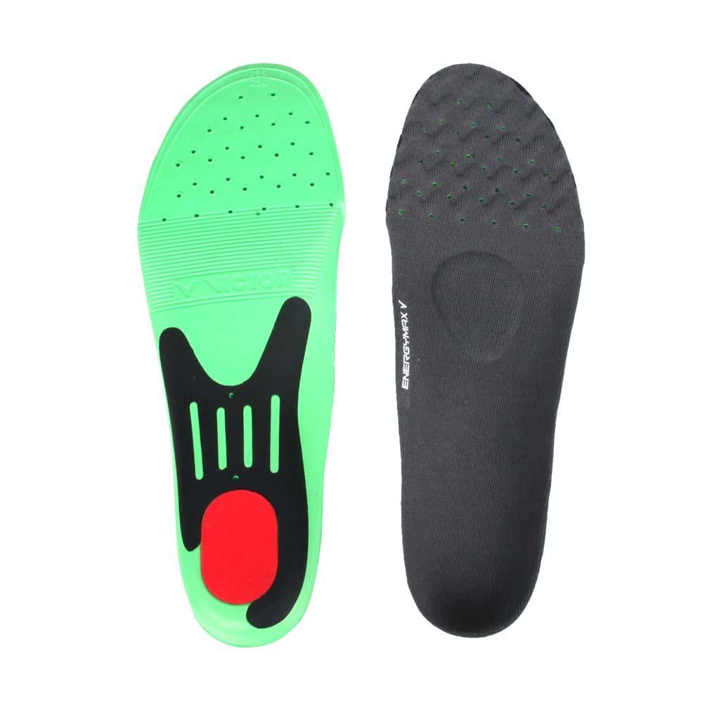 VICTOR 高彈力運動鞋墊-慢跑 路跑 避震 勝利 綠黑紅@VT-XD11@