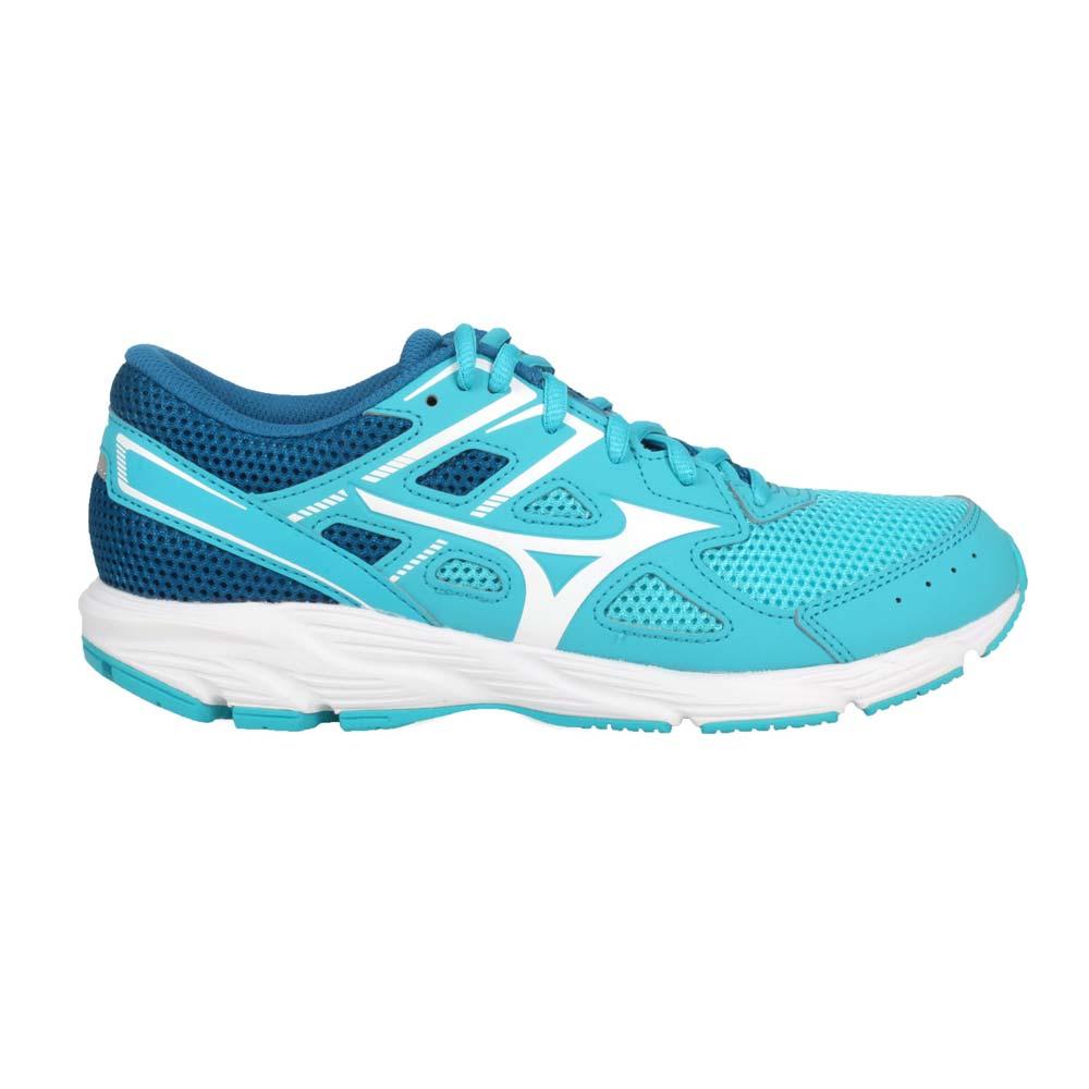 MIZUNO SPARK 6 女慢跑鞋-路跑 運動 訓練 美津濃 藍湖水綠白@K1GA210402@