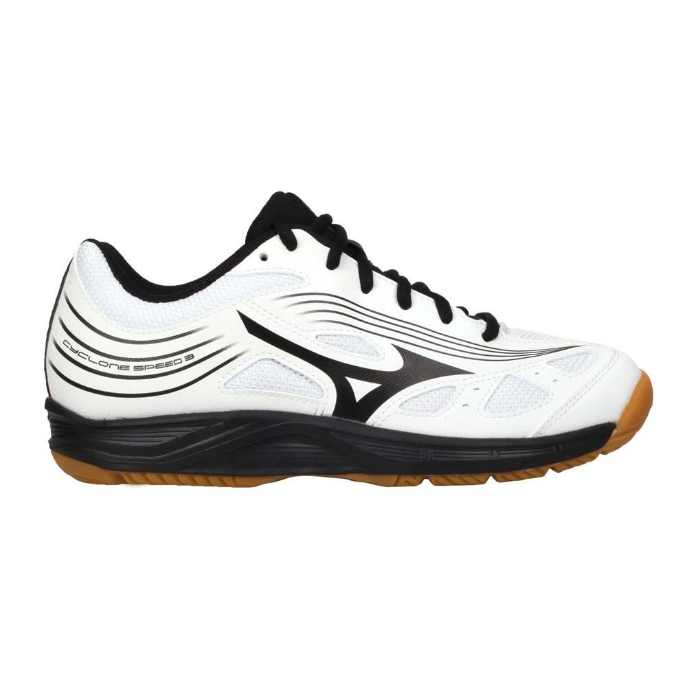 MIZUNO CYCLONE SPEED 3 女排球鞋-運動 訓練 美津濃 白黑@V1GC218009@