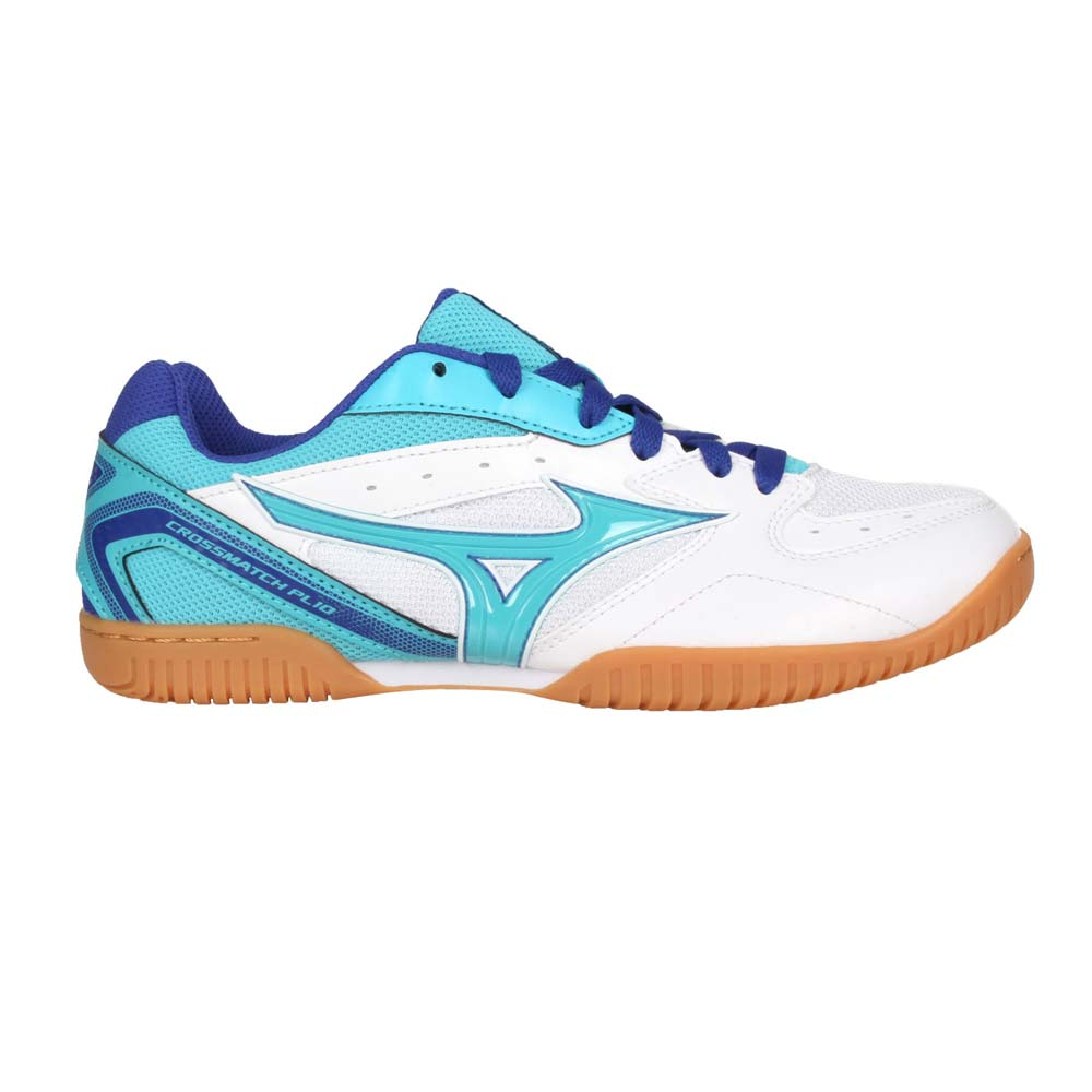 MIZUNO CROSSMATCH PLIO RX4 女桌球鞋-乒乓 美津濃 水藍白藍@81GA183026@