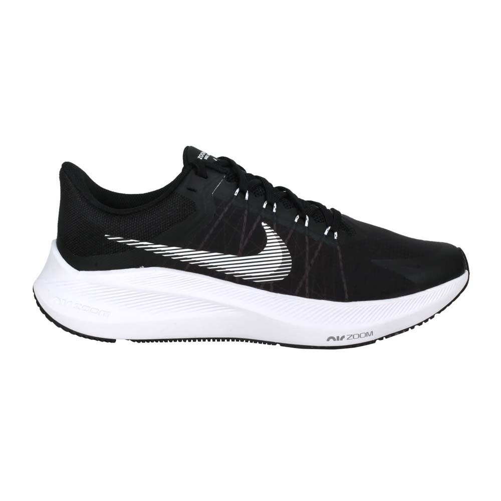 NIKE WINFLO 8 男慢跑鞋-輕量 運動 路跑 黑白@CW3419006@