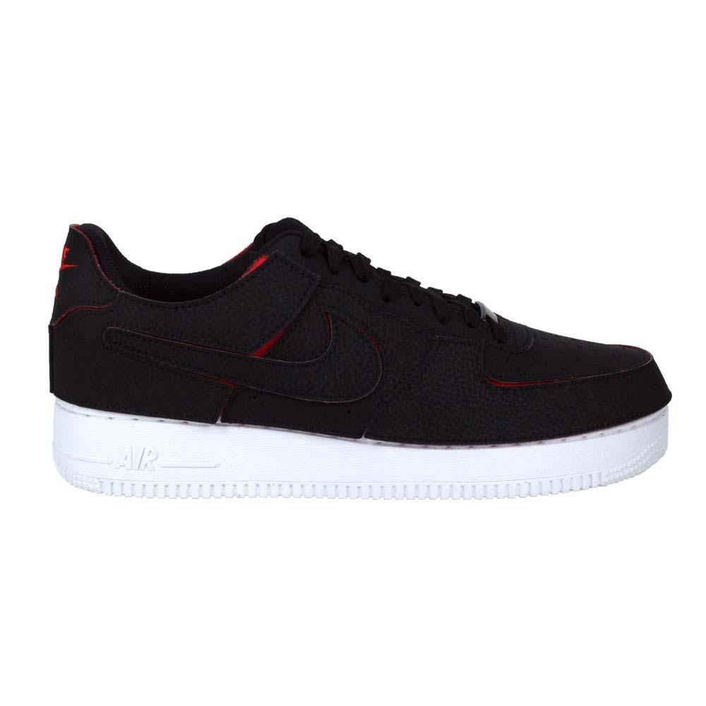 NIKE AF1/1-男休閒鞋-可拆式-皮革 復古 經典 魔鬼氈拼貼 黑紅@DD2429001@