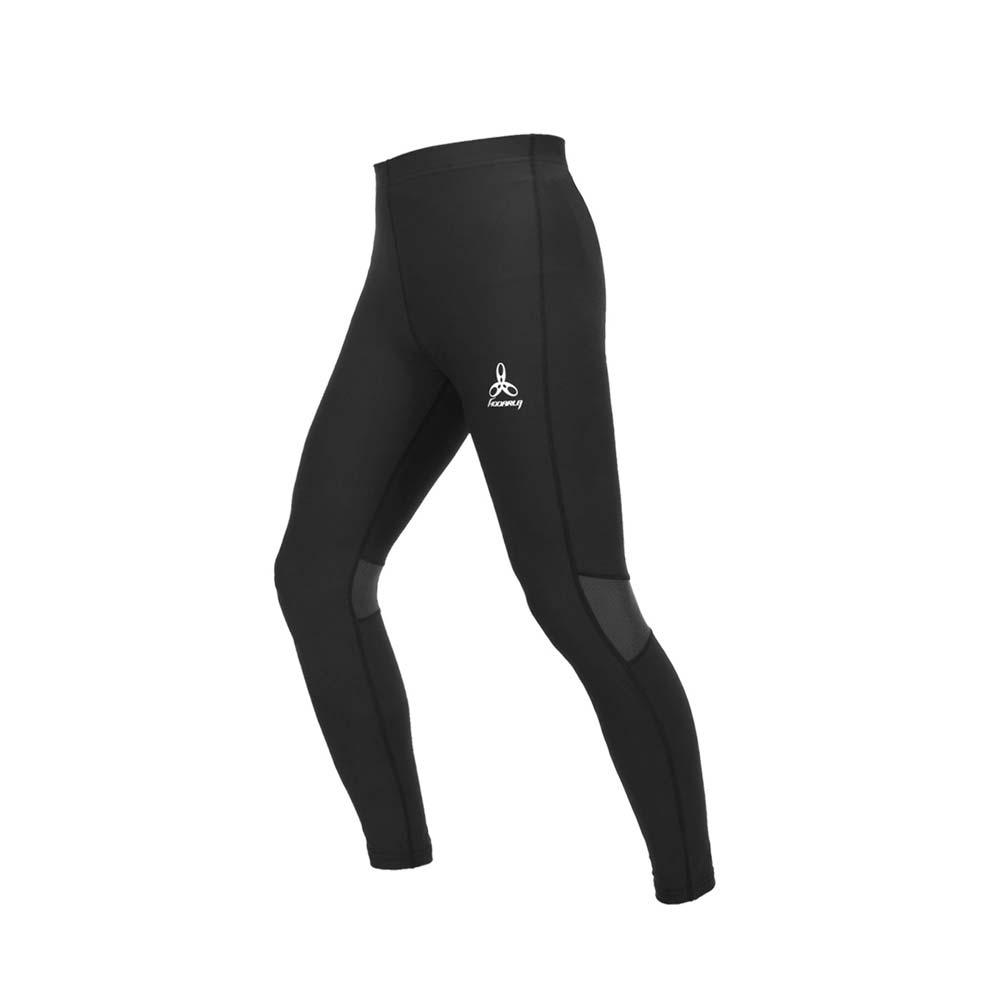 HODARLA 男女爆擊二代機能緊身長褲-慢跑 路跑 健身 訓練 束褲 台灣製 黑@3158201@
