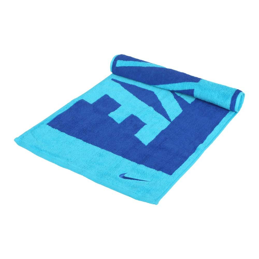 NIKE 長形毛巾-中-純棉 運動 海邊 游泳 戲水 慢跑 藍水藍@N1001539438MD@