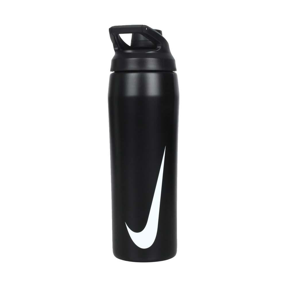 NIKE 保冷瓶24OZ-慢跑 單車 自行車 登山 運動水壺 700ML 黑白@N100062009124@