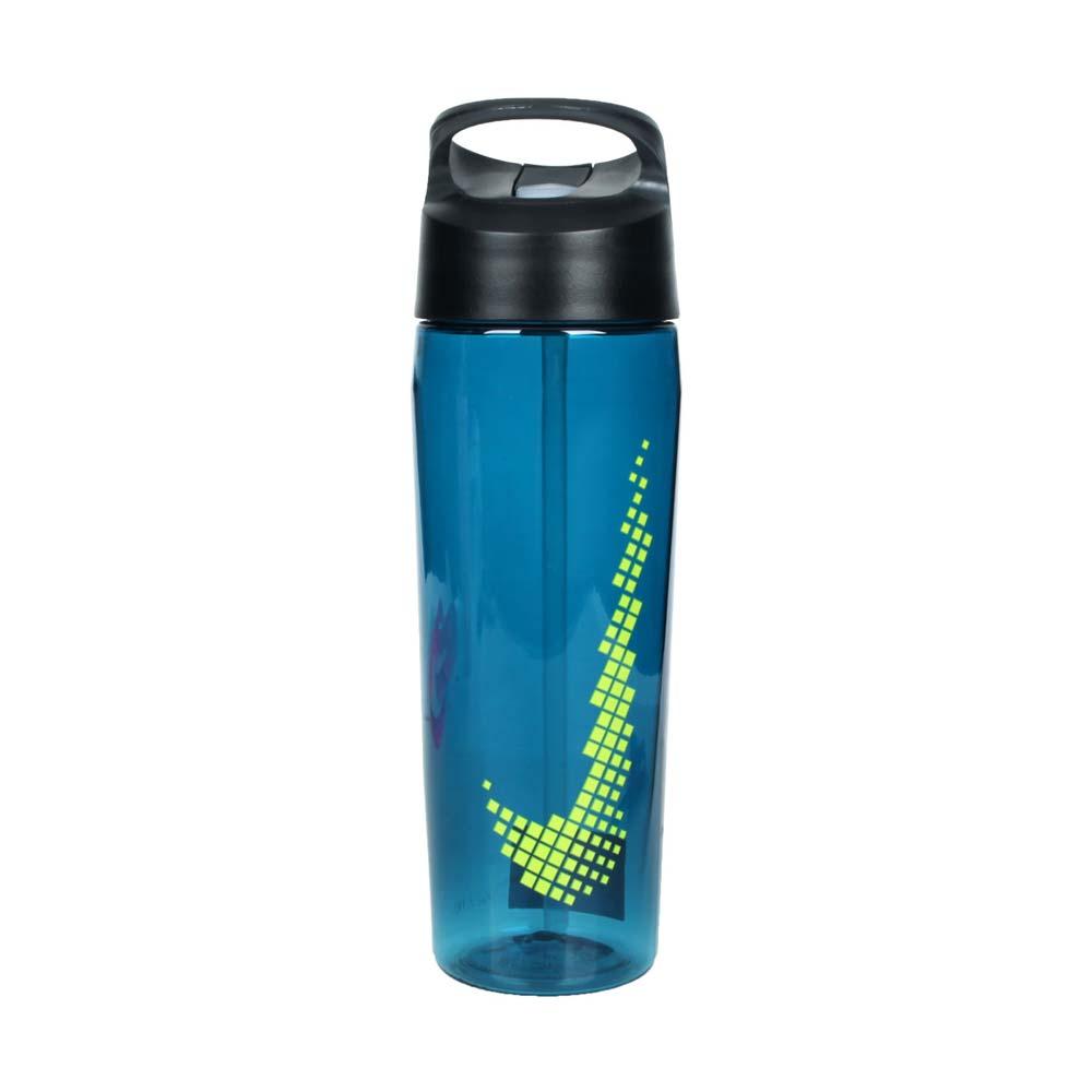 NIKE 吸管水壺24OZ-慢跑 單車 自行車 登山 運動水壺 700ML 藍綠@N000003430924@