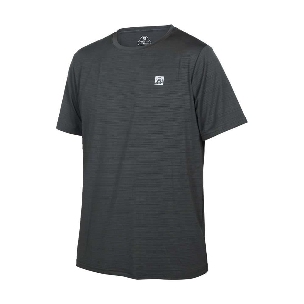 FIRESTAR 男彈性機能短袖圓領T恤-慢跑 路跑 涼感 運動 上衣 灰銀@D1733-16@