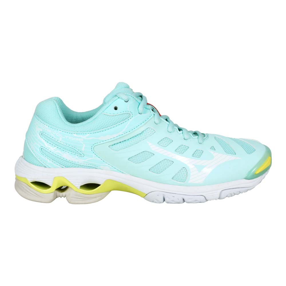 MIZUNO WAVE VOLTAGE 女排球鞋-訓練 運動 美津濃 淺藍白黃@V1GC216026@