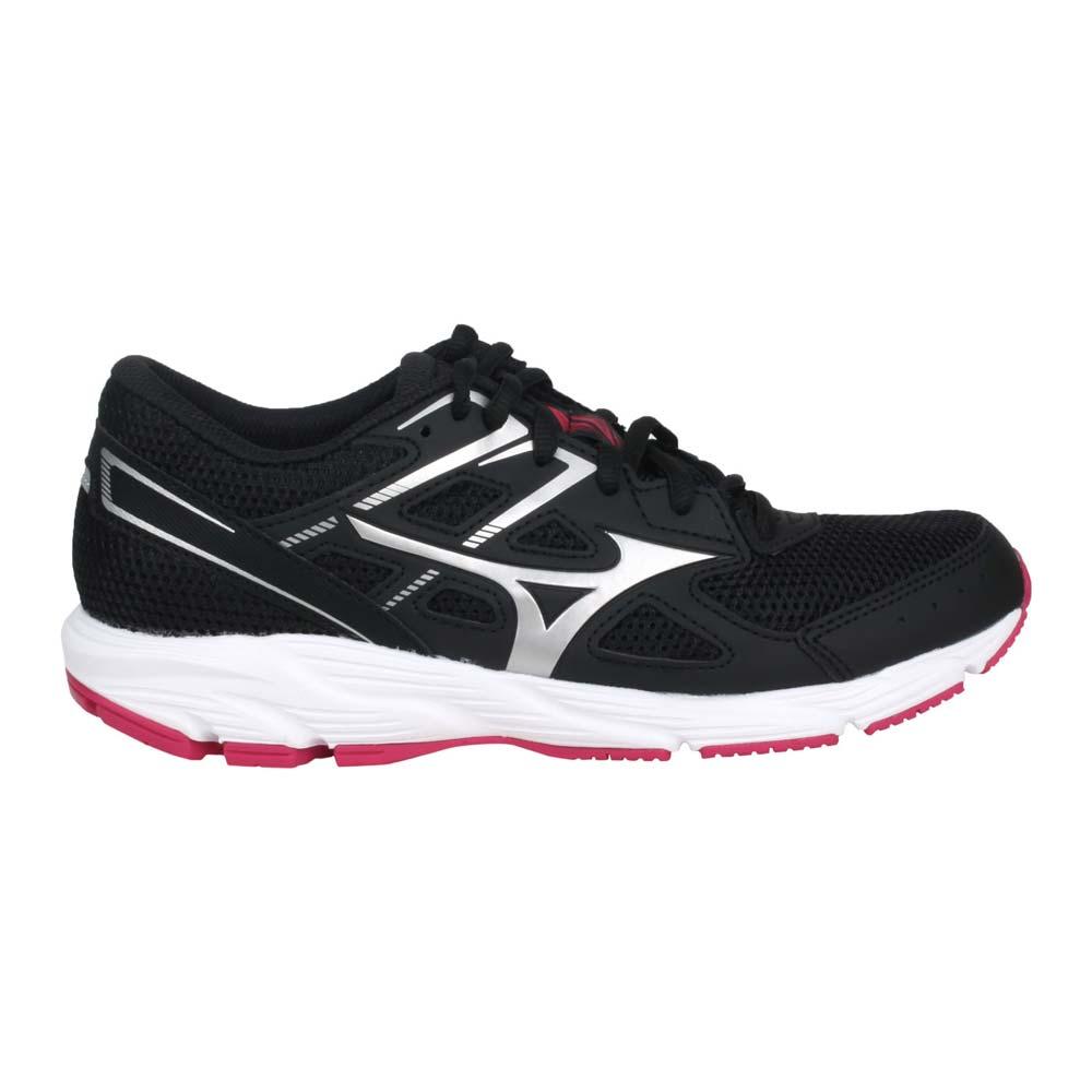 MIZUNO SPARK 6 女慢跑鞋-路跑 訓練 美津濃 黑銀紅@K1GA210404@